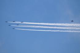 AkiChup0nさんが、夢の島競技場で撮影した航空自衛隊 T-4の航空フォト(飛行機 写真・画像)