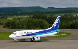 にしやんさんが、女満別空港で撮影したエアーニッポン 737-54Kの航空フォト(飛行機 写真・画像)