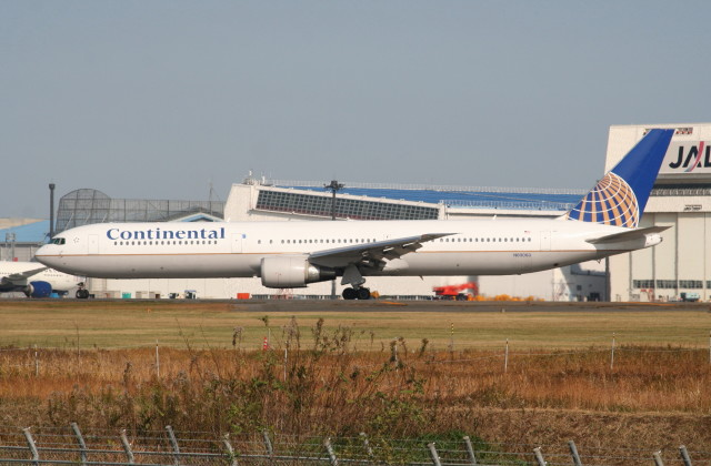 shibu03さんが、成田国際空港で撮影したコンチネンタル航空 767-424/ERの航空フォト(飛行機 写真・画像)