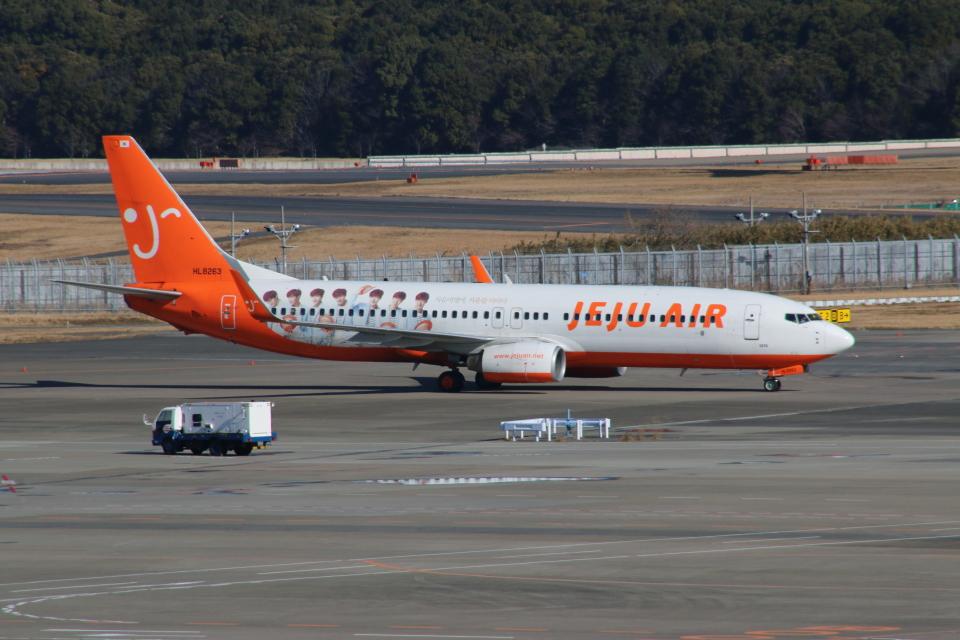 kahluamilkさんのチェジュ航空 Boeing 737-800 (HL8263) 航空フォト
