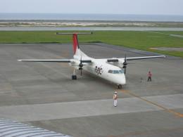 しかばねさんが、久米島空港で撮影した琉球エアーコミューター DHC-8-314 Dash 8の航空フォト(飛行機 写真・画像)