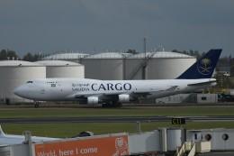 nobu2000さんが、アムステルダム・スキポール国際空港で撮影したサウディア 747-4H6/BDSF の航空フォト(飛行機 写真・画像)