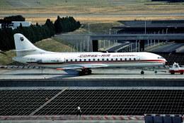 パール大山さんが、パリ オルリー空港で撮影したコルセール SE-210 Caravelle 10B3 Super Bの航空フォト(飛行機 写真・画像)