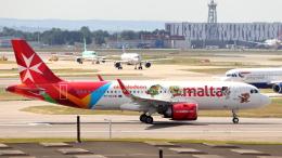 誘喜さんが、ロンドン・ヒースロー空港で撮影したエア・マルタ A320-251Nの航空フォト(飛行機 写真・画像)