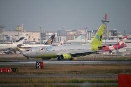 myoumyoさんが、福岡空港で撮影したジンエアー 737-86Nの航空フォト(飛行機 写真・画像)