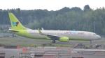 誘喜さんが、成田国際空港で撮影したジンエアー 737-8SHの航空フォト(飛行機 写真・画像)