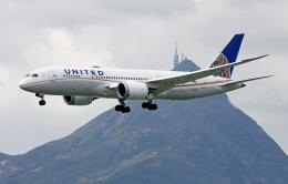 Asamaさんが、香港国際空港で撮影したユナイテッド航空 787-8 Dreamlinerの航空フォト(飛行機 写真・画像)