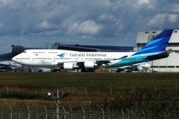 パール大山さんが、成田国際空港で撮影したガルーダ・インドネシア航空 747-4U3の航空フォト(飛行機 写真・画像)