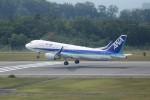 ヒロジーさんが、広島空港で撮影した全日空 A320-214の航空フォト(飛行機 写真・画像)