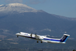 うさぎぱぱさんが、鹿児島空港で撮影したANAウイングス DHC-8-402Q Dash 8の航空フォト(飛行機 写真・画像)