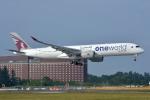 サンドバンクさんが、成田国際空港で撮影したカタール航空 A350-941の航空フォト(飛行機 写真・画像)