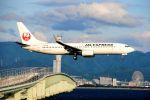 まいけるさんが、関西国際空港で撮影したJALエクスプレス 737-846の航空フォト(飛行機 写真・画像)