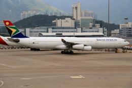 shibu03さんが、香港国際空港で撮影した南アフリカ航空 A340-313Xの航空フォト(飛行機 写真・画像)