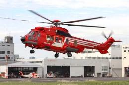 4engineさんが、東京ヘリポートで撮影した東京消防庁航空隊 EC225LP Super Puma Mk2+の航空フォト(飛行機 写真・画像)