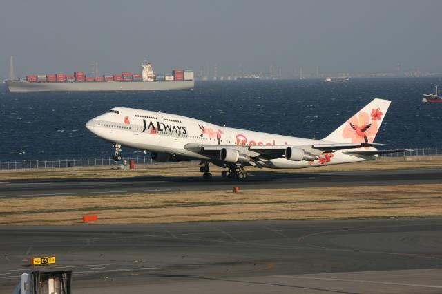kahluamilkさんが、羽田空港で撮影したJALウェイズ 747-346の航空フォト(飛行機 写真・画像)