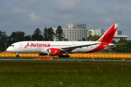 あおいそらさんが、成田国際空港で撮影したアビアンカ航空 787-8 Dreamlinerの航空フォト(飛行機 写真・画像)