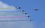 青い翼に鎧武者マークの!さんが、松島基地で撮影した航空自衛隊 T-4の航空フォト(飛行機 写真・画像)