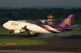 shibu03さんが、成田国際空港で撮影したタイ国際航空 747-4D7の航空フォト(飛行機 写真・画像)