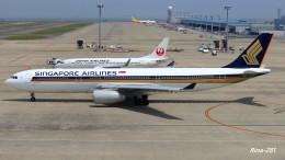 RINA-281さんが、中部国際空港で撮影したシンガポール航空 A330-343Xの航空フォト(飛行機 写真・画像)