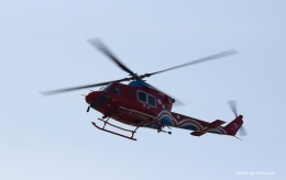 碇シンジさんが、岡南飛行場で撮影した岡山県消防防災航空隊 412EPの航空フォト(飛行機 写真・画像)