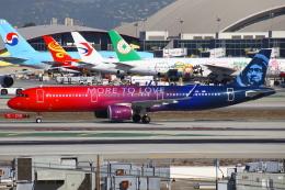 masa707さんが、ロサンゼルス国際空港で撮影したアラスカ航空 A321-253Nの航空フォト(飛行機 写真・画像)