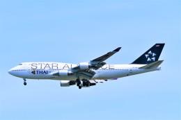Hiro Satoさんが、スワンナプーム国際空港で撮影したタイ国際航空 747-4D7の航空フォト(飛行機 写真・画像)