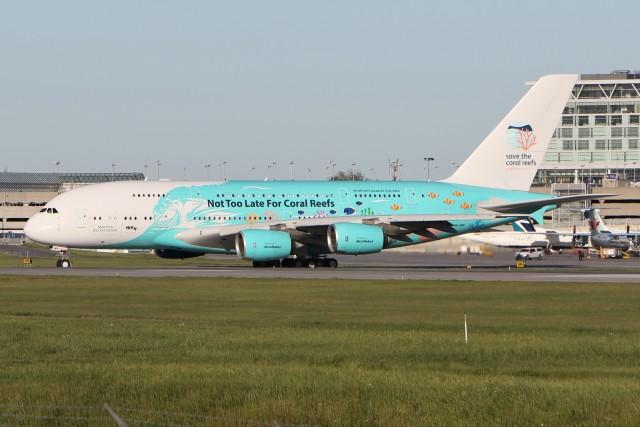 JETBIRDさんが、モントリオール・ピエール・エリオット・トルドー国際空港で撮影したハイ・フライ・マルタ A380-841の航空フォト(飛行機 写真・画像)