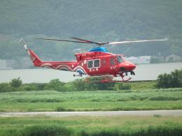ヒコーキグモさんが、岡南飛行場で撮影した岡山県消防防災航空隊 412EPの航空フォト(飛行機 写真・画像)