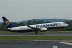 採れたてほしいもさんが、マンチェスター空港で撮影したライアンエア 737-8ASの航空フォト(飛行機 写真・画像)