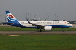TIA spotterさんが、広州白雲国際空港で撮影した重慶航空 A320-251Nの航空フォト(飛行機 写真・画像)