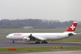 senyoさんが、成田国際空港で撮影したスイスインターナショナルエアラインズ A340-313Xの航空フォト(飛行機 写真・画像)