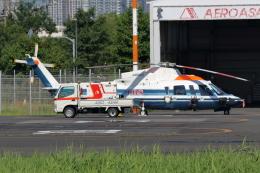 walker2000さんが、東京ヘリポートで撮影した朝日航洋 S-76Cの航空フォト(飛行機 写真・画像)
