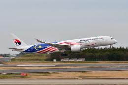 ポン太さんが、成田国際空港で撮影したマレーシア航空 A350-941の航空フォト(飛行機 写真・画像)
