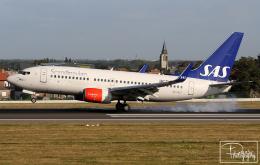 dave_0402さんが、ブリュッセル国際空港で撮影したスカンジナビア航空 737-76Nの航空フォト(飛行機 写真・画像)