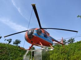 ジャンクさんが、成田国際空港で撮影した新日本ヘリコプター 369HSの航空フォト(飛行機 写真・画像)