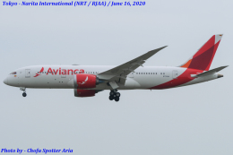 Chofu Spotter Ariaさんが、成田国際空港で撮影したアビアンカ航空 787-8 Dreamlinerの航空フォト(飛行機 写真・画像)
