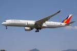 masa707さんが、福岡空港で撮影したフィリピン航空 A350-941の航空フォト(飛行機 写真・画像)