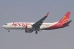 BTYUTAさんが、インディラ・ガンディー国際空港で撮影したスパイスジェット 737-8GJの航空フォト(飛行機 写真・画像)