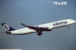 tassさんが、成田国際空港で撮影したサベナ・ベルギー航空 A340-311の航空フォト(飛行機 写真・画像)