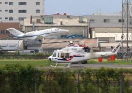 LOTUSさんが、八尾空港で撮影した四国航空 412EPの航空フォト(飛行機 写真・画像)