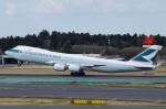 tasho0525さんが、成田国際空港で撮影したキャセイパシフィック航空 747-867F/SCDの航空フォト(飛行機 写真・画像)