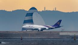 kekeさんが、羽田空港で撮影したタイ国際航空 747-4D7の航空フォト(飛行機 写真・画像)