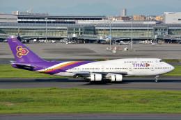 サンドバンクさんが、羽田空港で撮影したタイ国際航空 747-4D7の航空フォト(飛行機 写真・画像)