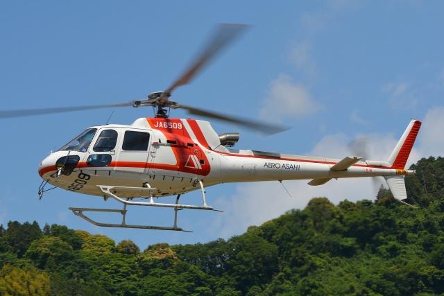 航空フォト:JA6509 朝日航洋 AS350 Ecureuil/AStar
