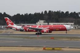 ショウさんが、成田国際空港で撮影したエアアジア・エックス A330-343Xの航空フォト(飛行機 写真・画像)