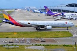 amagoさんが、関西国際空港で撮影したアシアナ航空 A330-323Xの航空フォト(飛行機 写真・画像)
