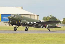 ちゃぽんさんが、フェアフォード空軍基地で撮影したイギリス空軍 C-47A Skytrainの航空フォト(飛行機 写真・画像)