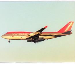エルさんが、成田国際空港で撮影したノースウエスト航空 747-451の航空フォト(飛行機 写真・画像)