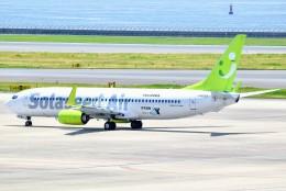 のぶさん。さんが、中部国際空港で撮影したソラシド エア 737-81Dの航空フォト(飛行機 写真・画像)