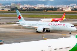 B.K JEONGさんが、台湾桃園国際空港で撮影したエア・カナダ 787-9の航空フォト(飛行機 写真・画像)